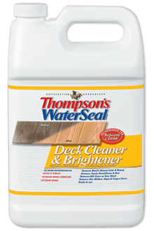 Thompson 39 s waterseal wood deck cleaner brightener for Revive deck cleaner